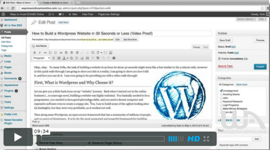 Build a wordpress website for free