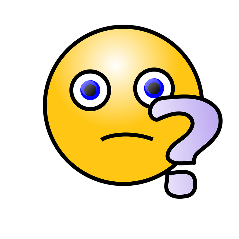 confused emoji with a question mark