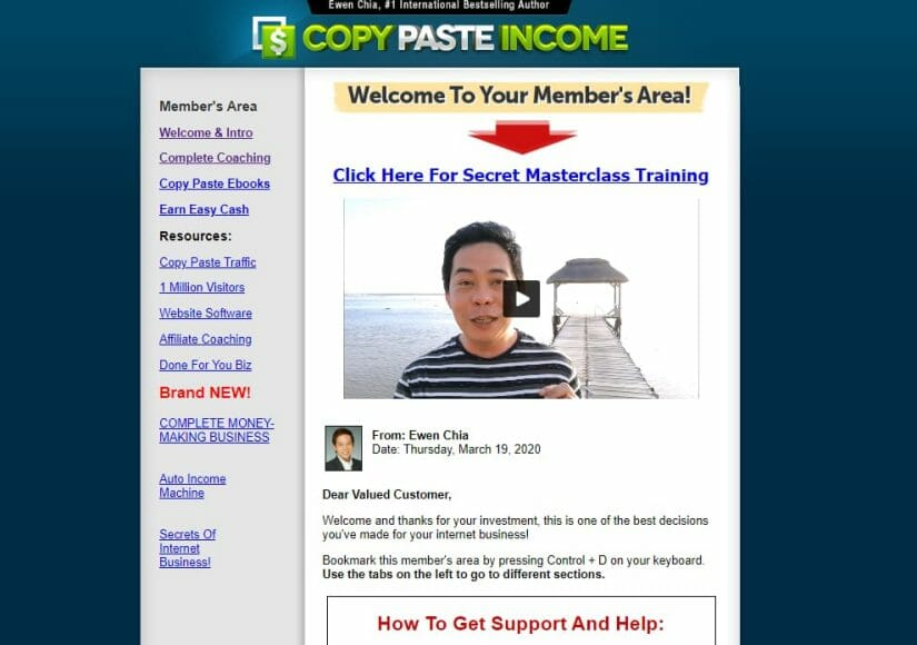 opy paste income review inside