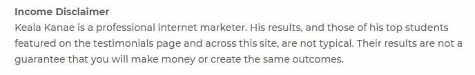 fullstaq marketer review income disclaimer