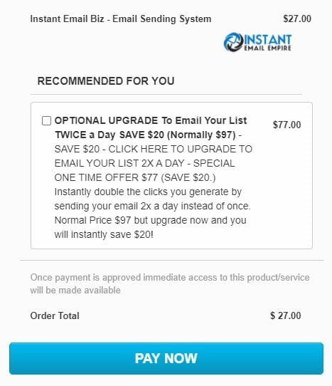 instant email biz review price