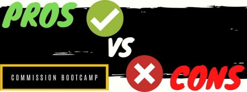 commission bootcamp review pros vs cons