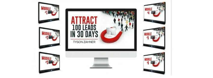 attract a hundred leads in thirty days review inside