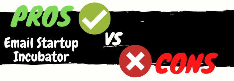 email startup incubator review pros vs cons
