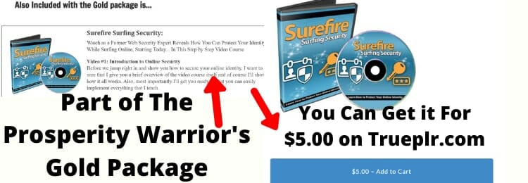 proof that the prosperity warrior's gold package PLR products can be downloaded for free or much cheaper