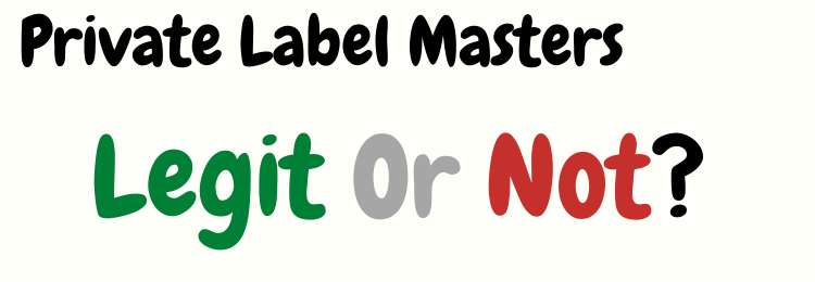 Private Label Masters review legit or not